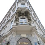 Carvings on the Cartier building