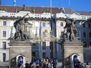 Main entrance to Prague Castle