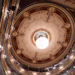 The ceiling of the Estates Theatre